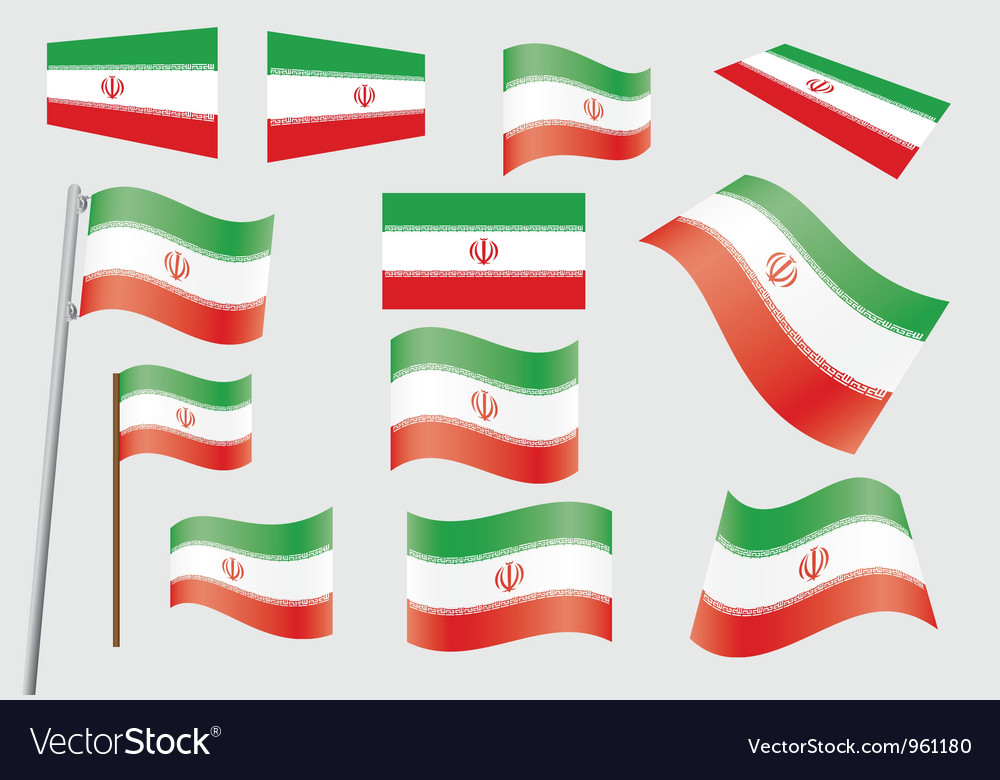 Flag of iran vector | Price: 1 Credit (USD $1)