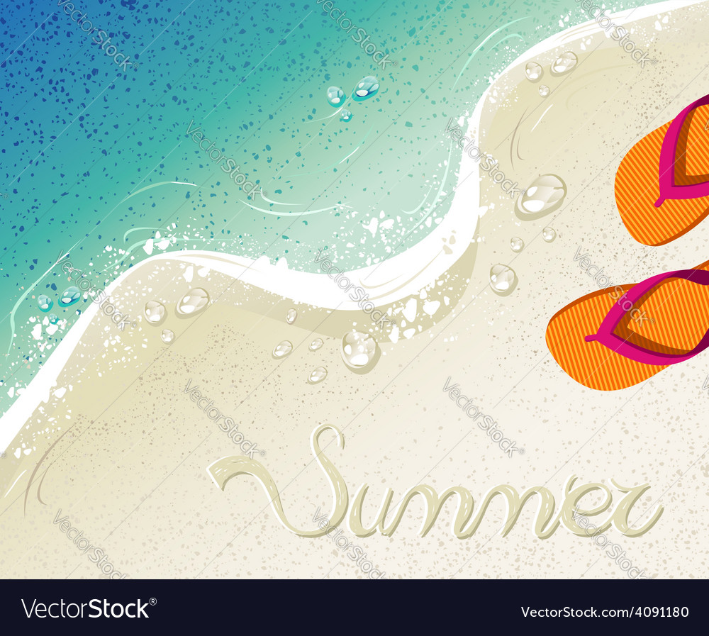 Flip flops summer time holiday background vector | Price: 1 Credit (USD $1)