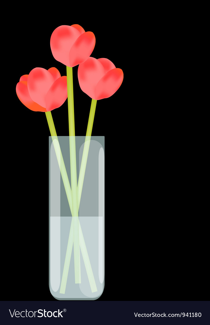 Flowers in vase vector | Price: 1 Credit (USD $1)