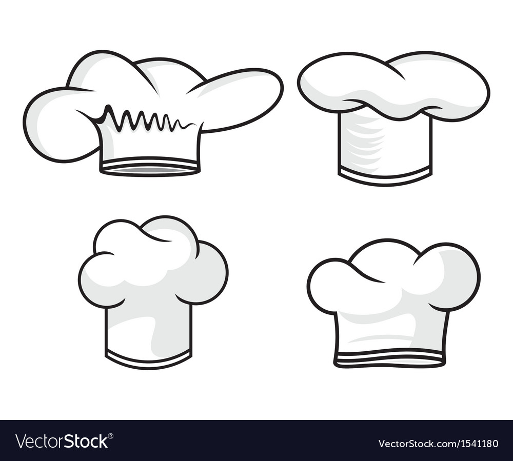 Four chef hats vector | Price: 1 Credit (USD $1)