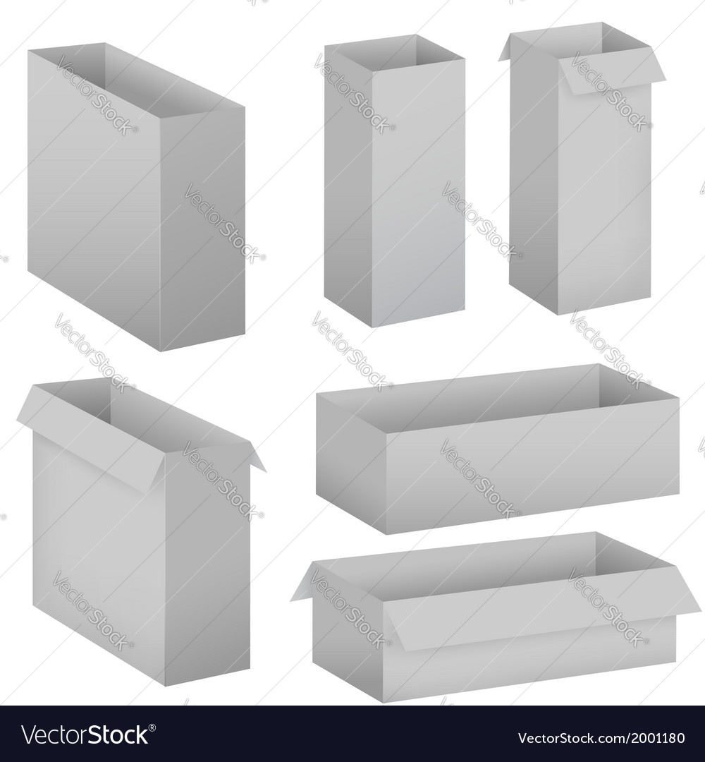 Grey box set vector | Price: 1 Credit (USD $1)