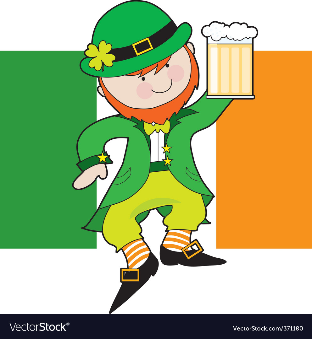 Leprechaun flag vector | Price: 1 Credit (USD $1)