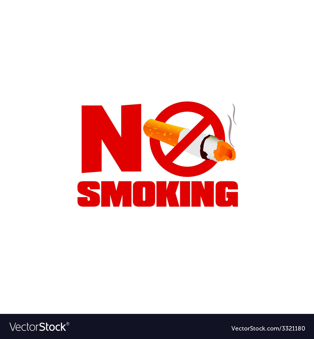 No smoking sign color vector | Price: 1 Credit (USD $1)