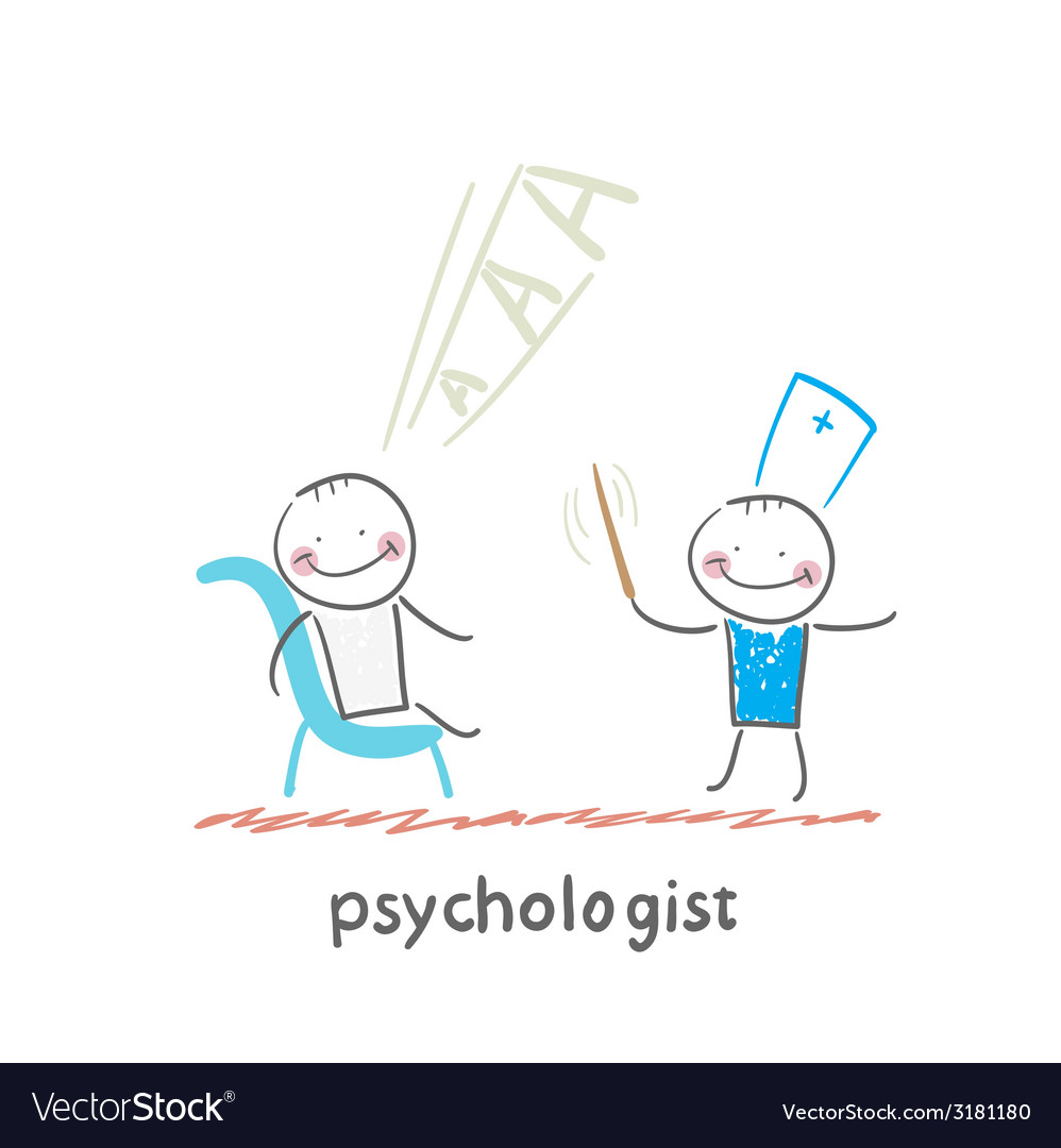 Psychologist conducts a stick and the patient vector | Price: 1 Credit (USD $1)