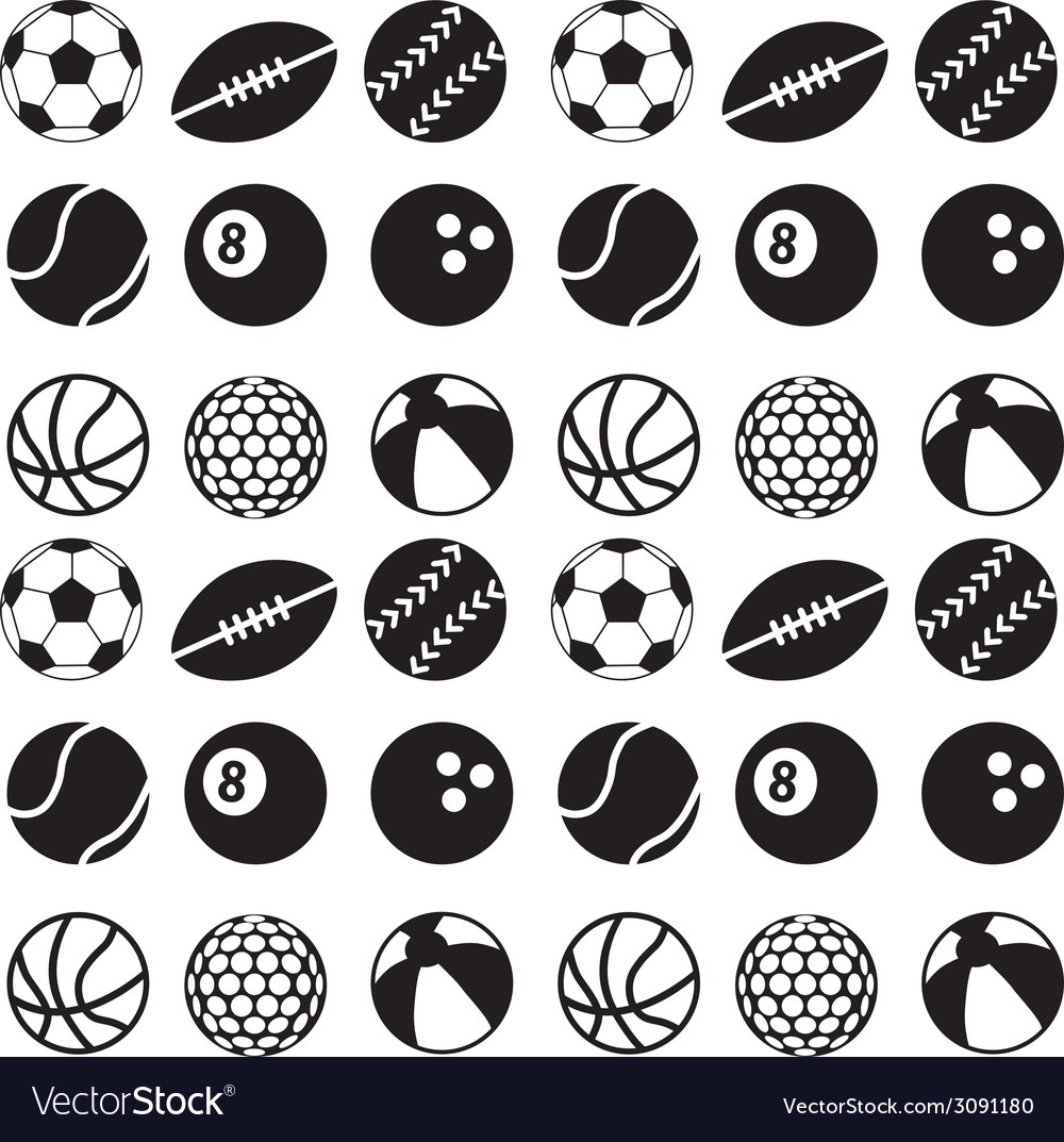 Seamless ball pattern vector | Price: 1 Credit (USD $1)