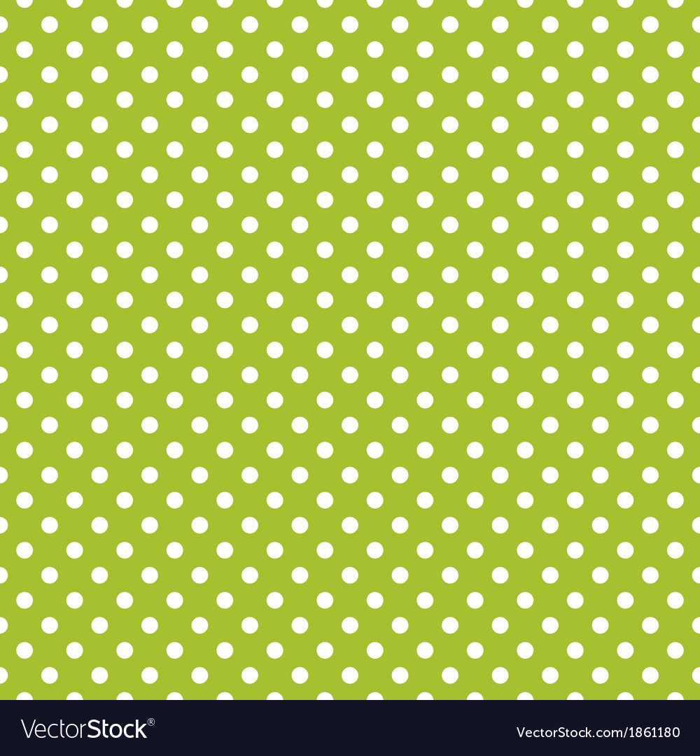 Seamless spring green pattern with white polka dot vector | Price: 1 Credit (USD $1)