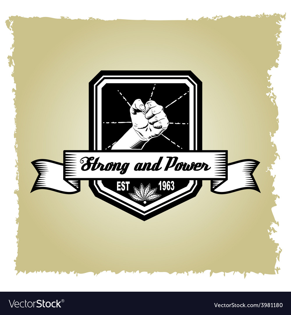 Strong and power company black and white logo vector | Price: 1 Credit (USD $1)