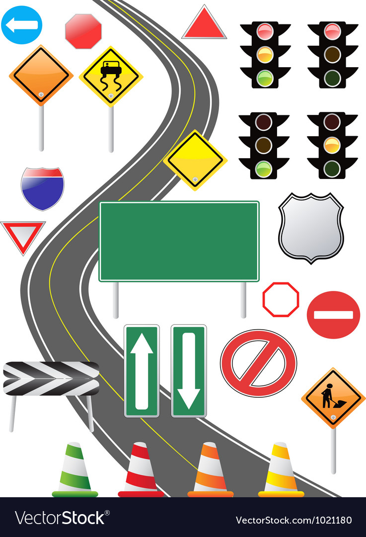 Traffic sign icon vector | Price: 1 Credit (USD $1)