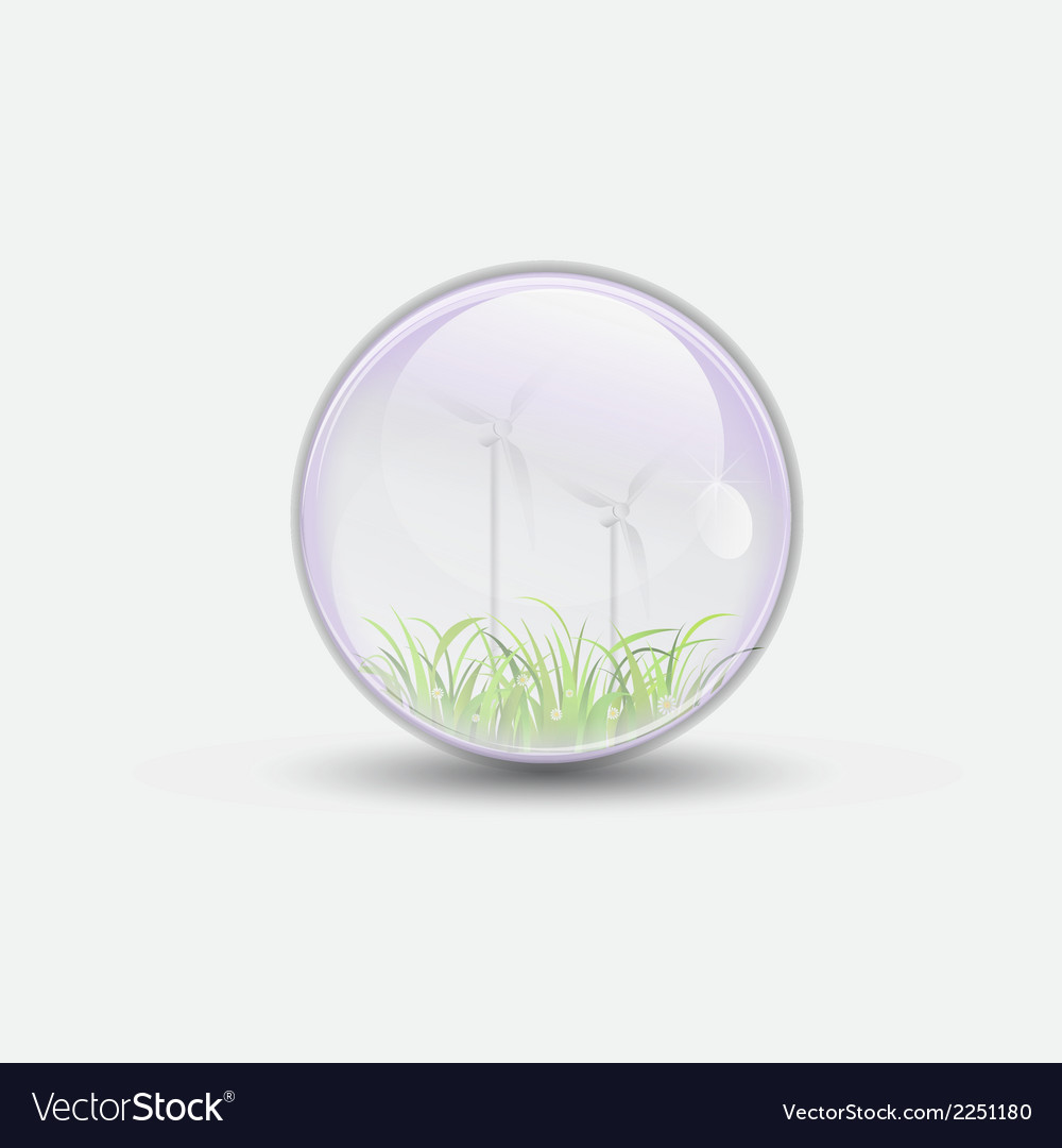 Wind power bubble water clear vector | Price: 1 Credit (USD $1)