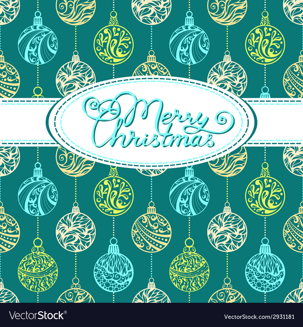 Festive background with christmas balls vector | Price: 1 Credit (USD $1)
