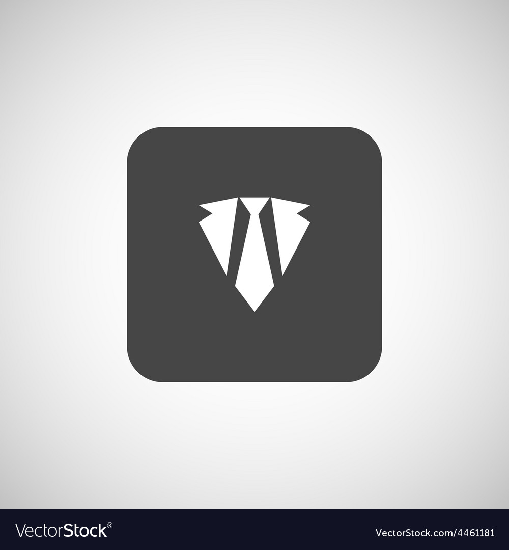 Icon flat necktie shaded tie style vector | Price: 1 Credit (USD $1)