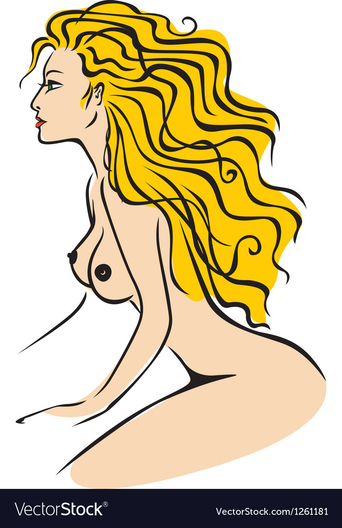 Nude lady color vector | Price: 3 Credit (USD $3)