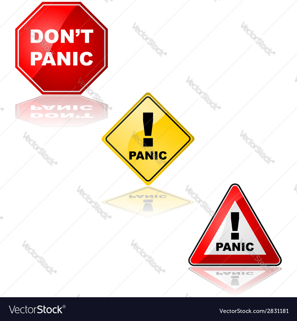 Panic signs vector | Price: 1 Credit (USD $1)