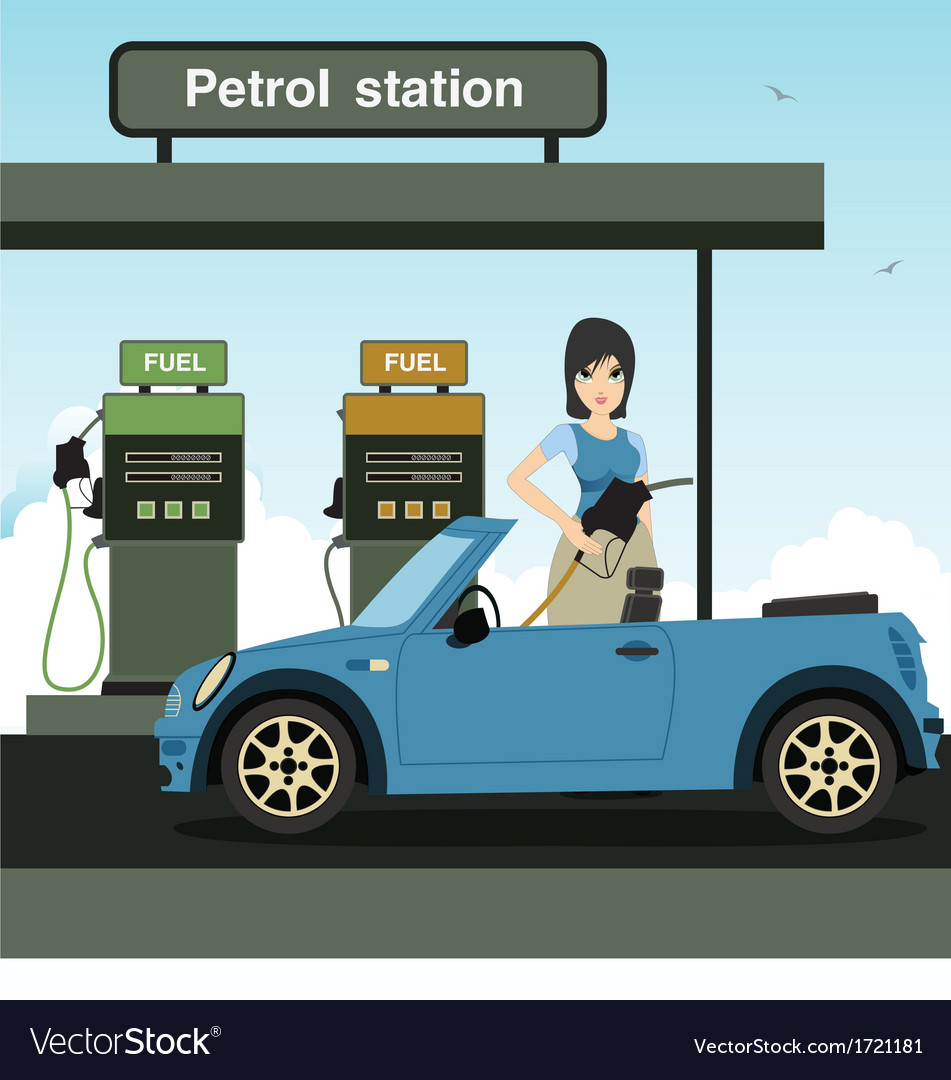 Petrol station vector | Price: 3 Credit (USD $3)