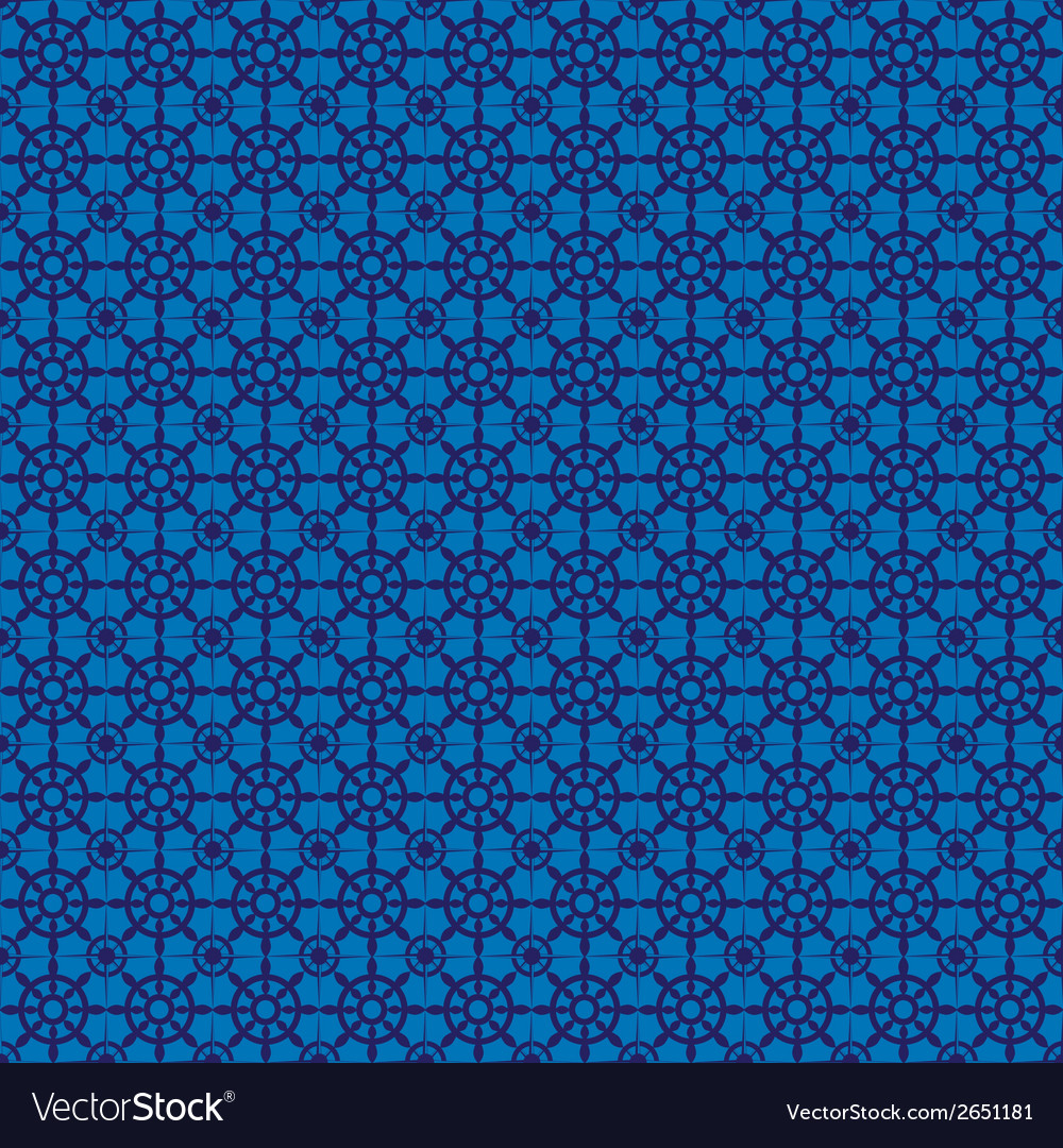 Retro navy blue seamless pattern eps10 vector | Price: 1 Credit (USD $1)