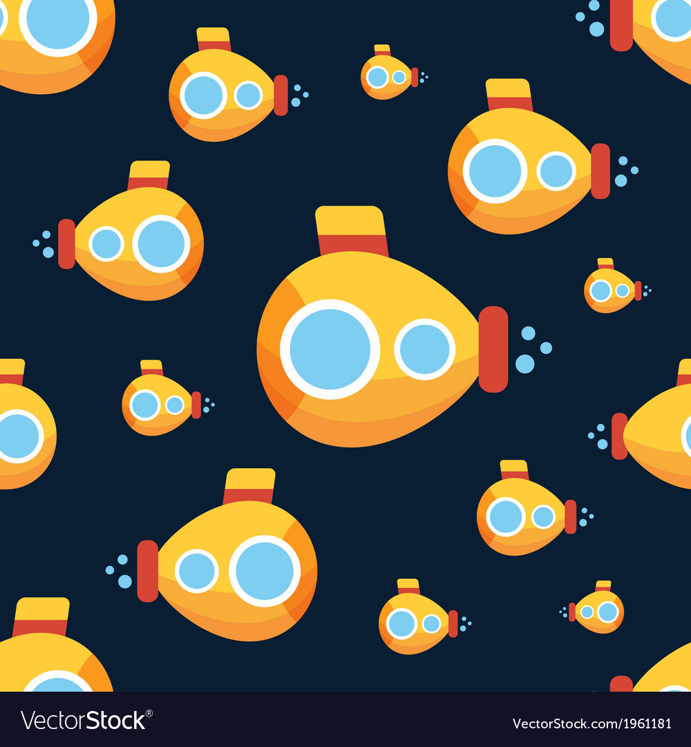 Yellow submarine vector | Price: 1 Credit (USD $1)