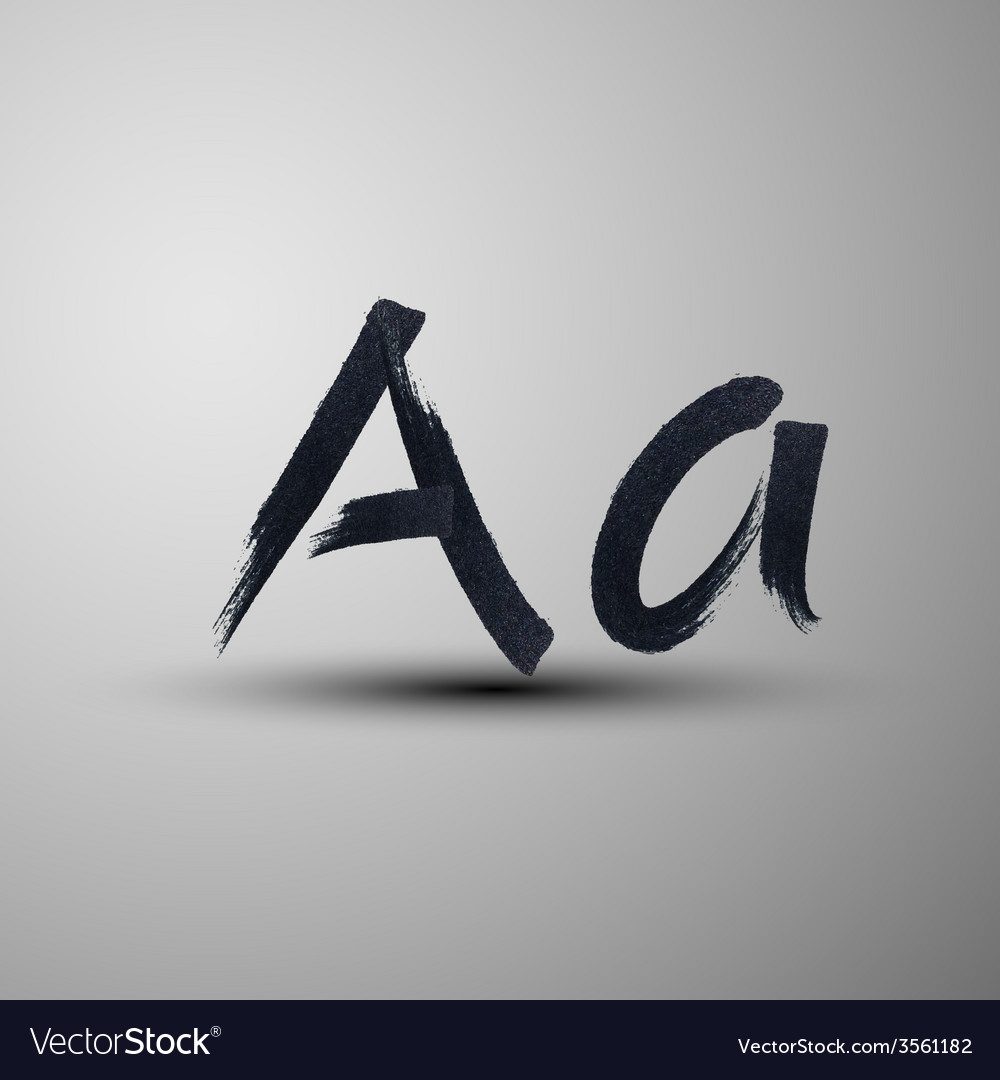 Calligraphic hand-drawn marker or ink letter a vector | Price: 1 Credit (USD $1)
