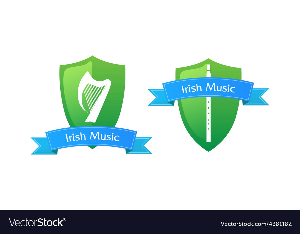 Emblem of irish music vector | Price: 1 Credit (USD $1)