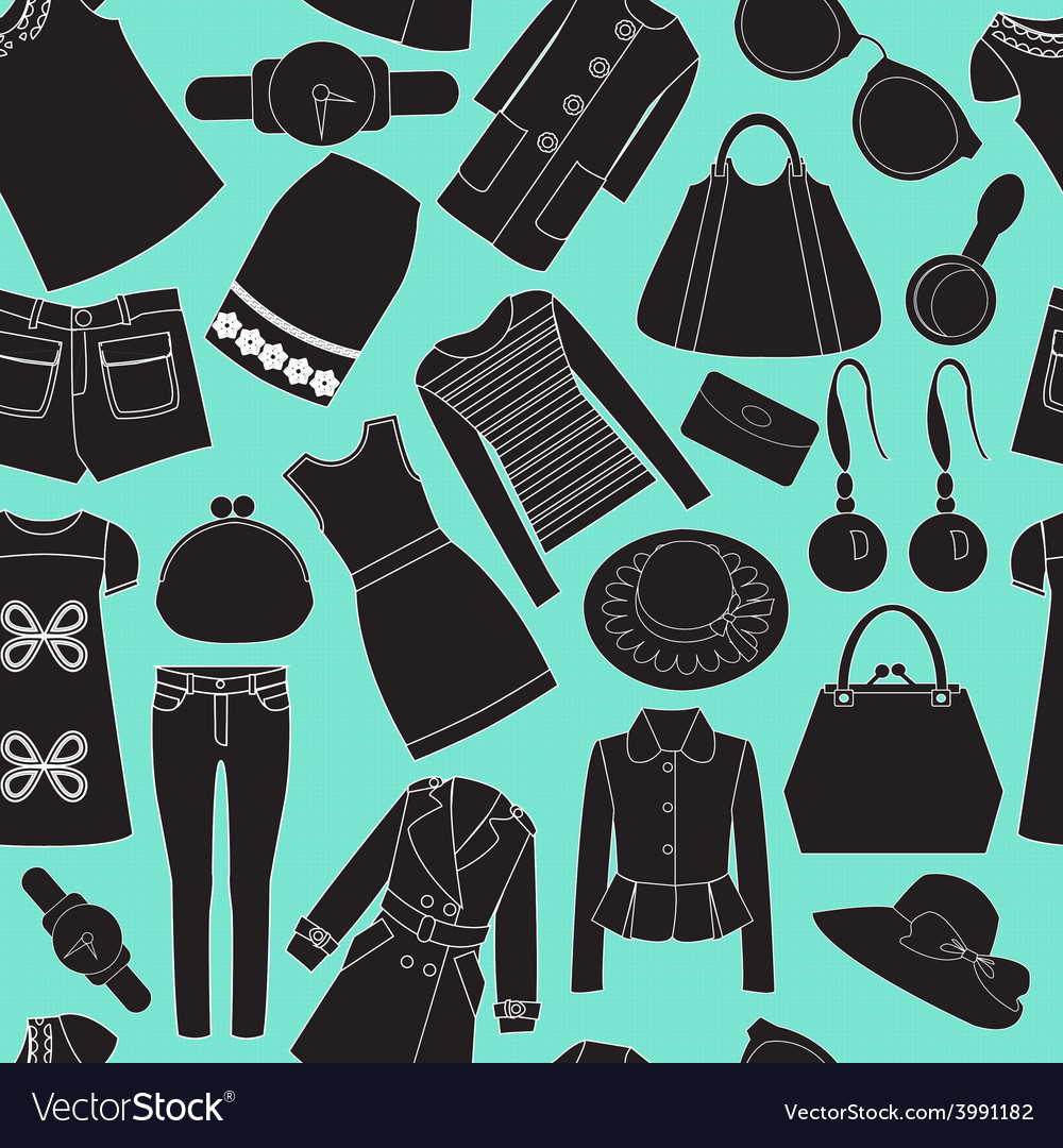 Fashion spring seamless background vector | Price: 1 Credit (USD $1)