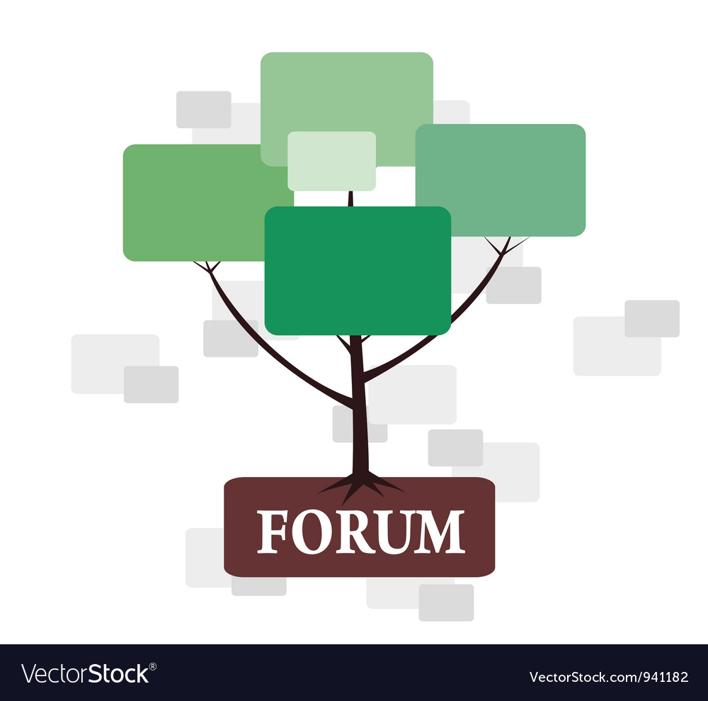 Forum tree in green and brown color vector | Price: 1 Credit (USD $1)