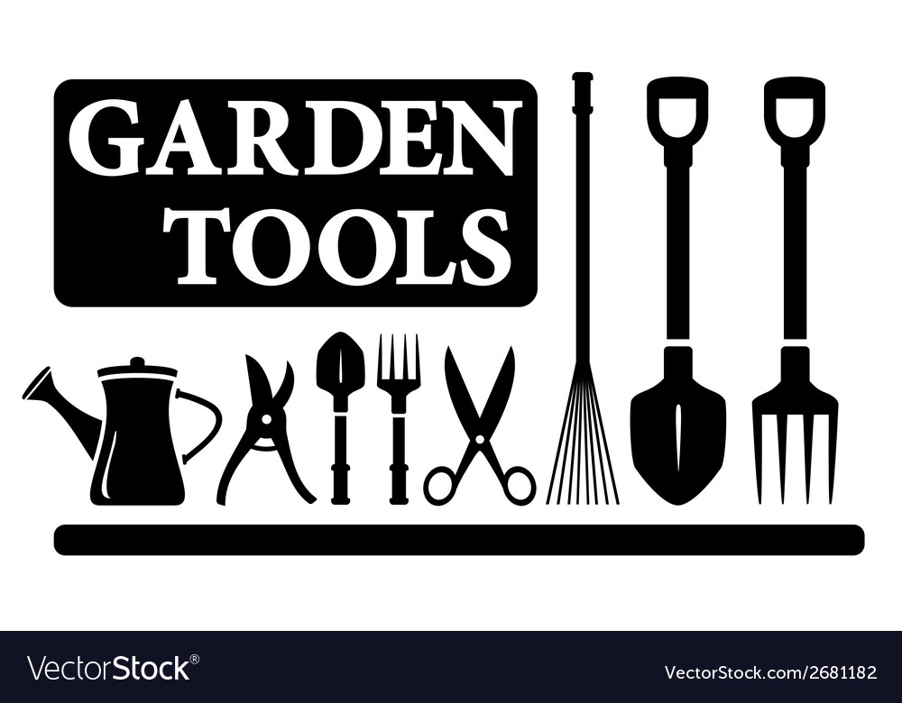 Isolated gardening tools vector | Price: 1 Credit (USD $1)