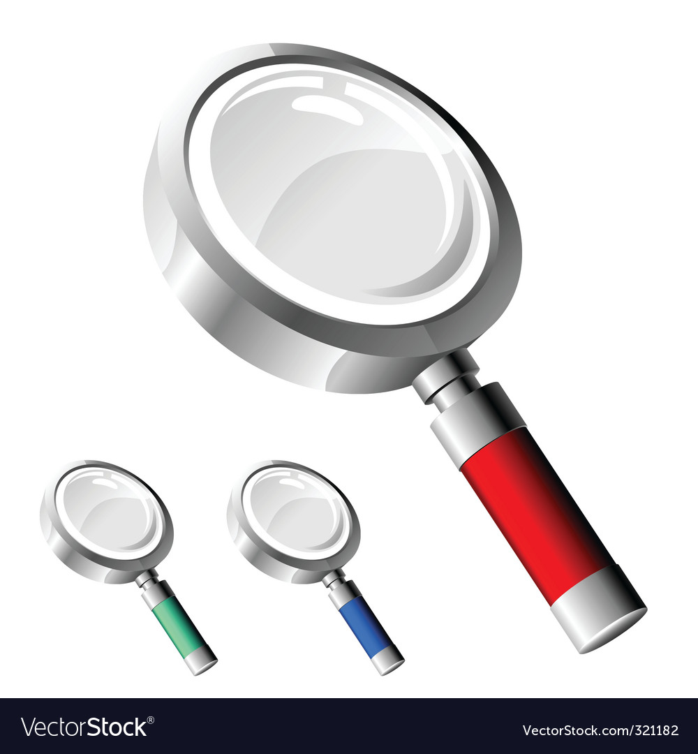 Magnify glass vector | Price: 1 Credit (USD $1)