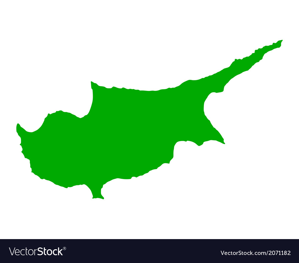 Map of cyprus vector | Price: 1 Credit (USD $1)