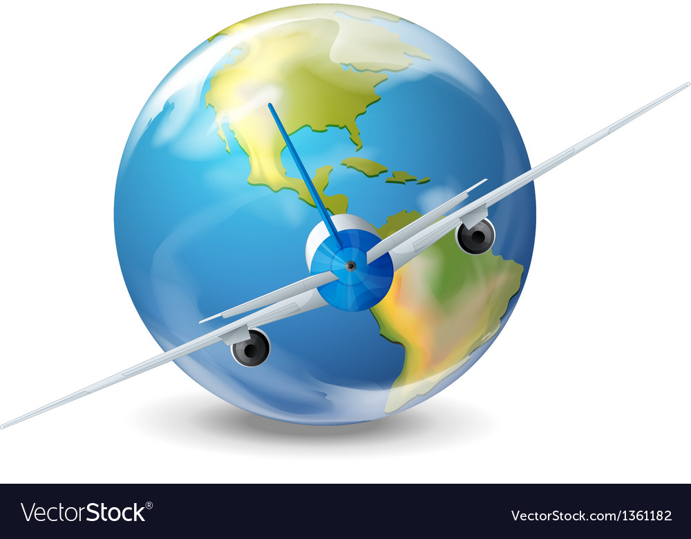 Plane travel vector | Price: 1 Credit (USD $1)