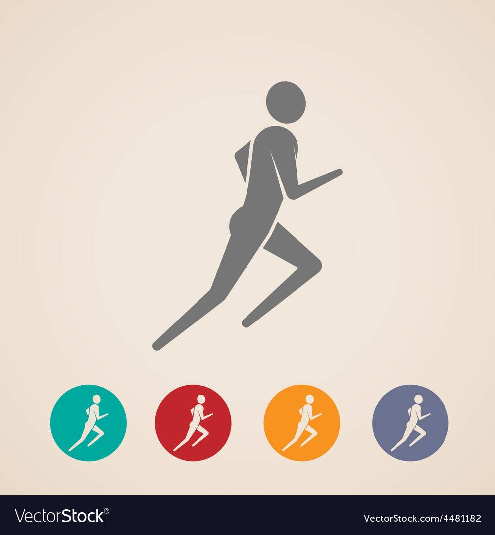 Running or jogging man icons vector | Price: 1 Credit (USD $1)