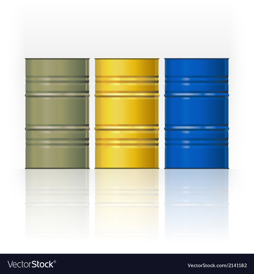 Set color steel barrels vector | Price: 1 Credit (USD $1)
