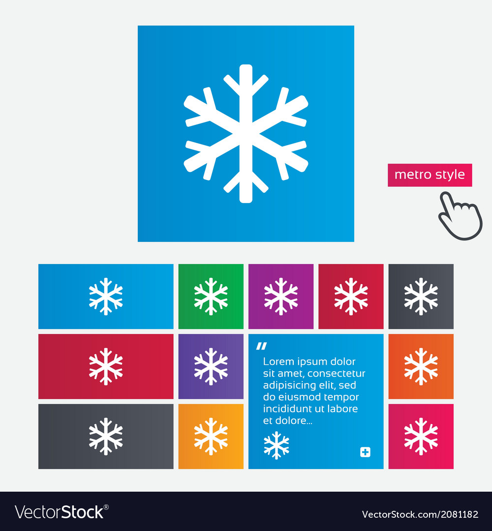Snowflake sign icon air conditioning symbol vector | Price: 1 Credit (USD $1)