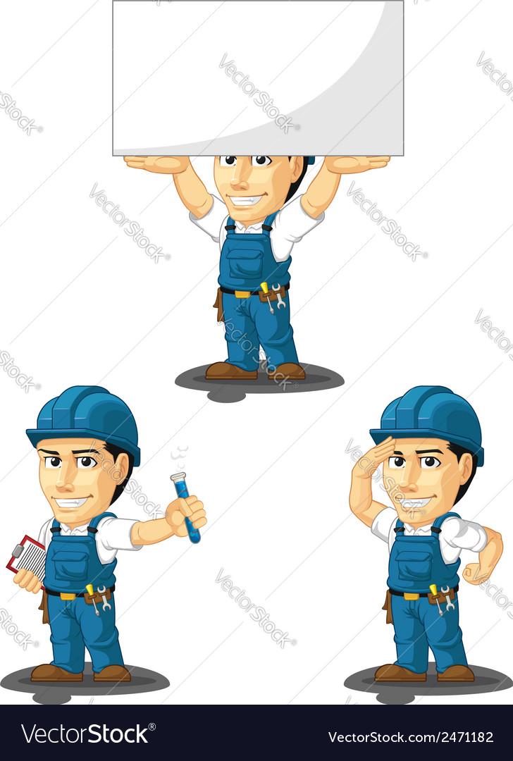 Technician or repairman mascot 8 vector | Price: 1 Credit (USD $1)