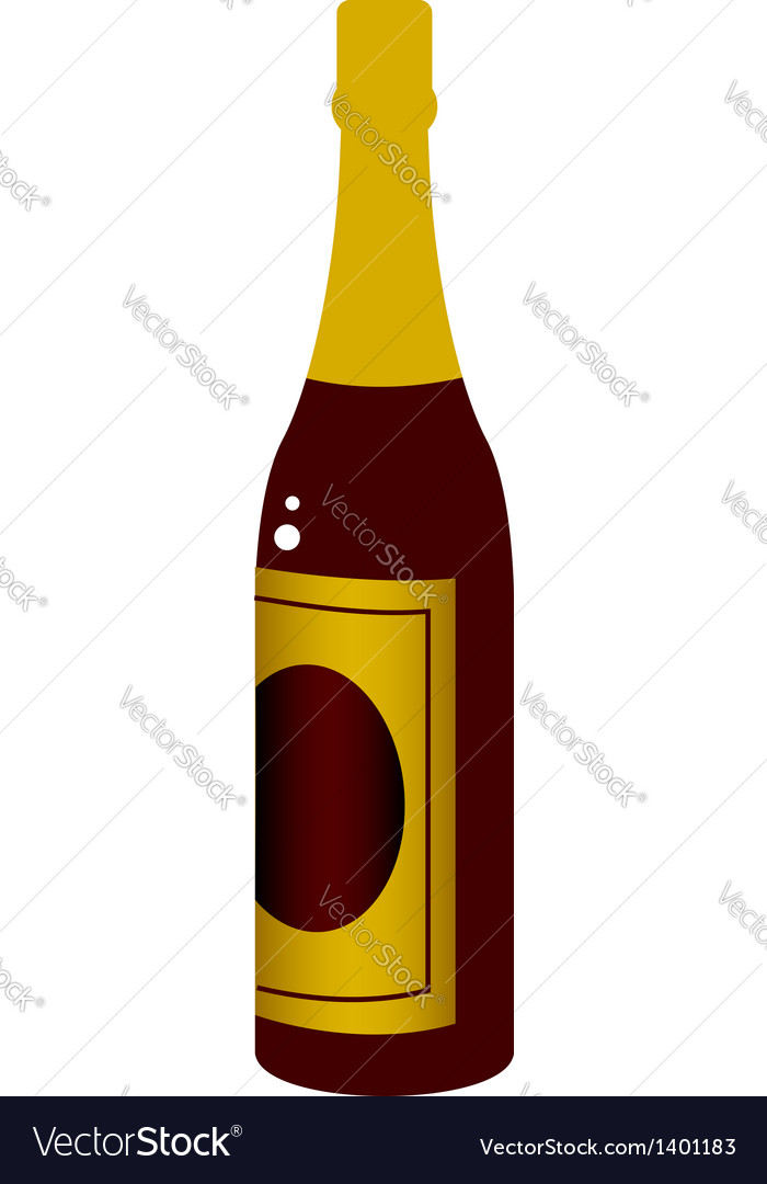 A bottle vector | Price: 1 Credit (USD $1)