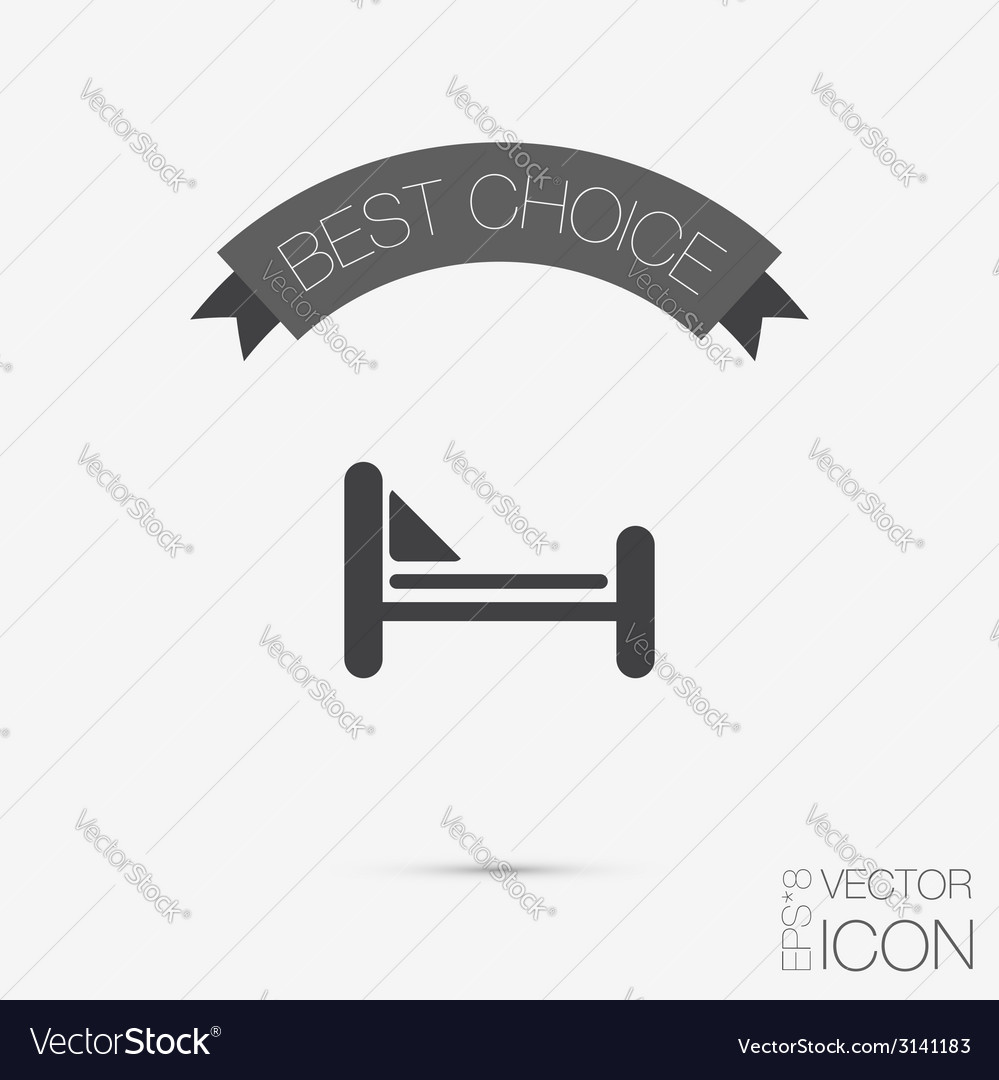 Bed symbol sign symbol or hotel stay vector   Price: 1 Credit (USD $1)