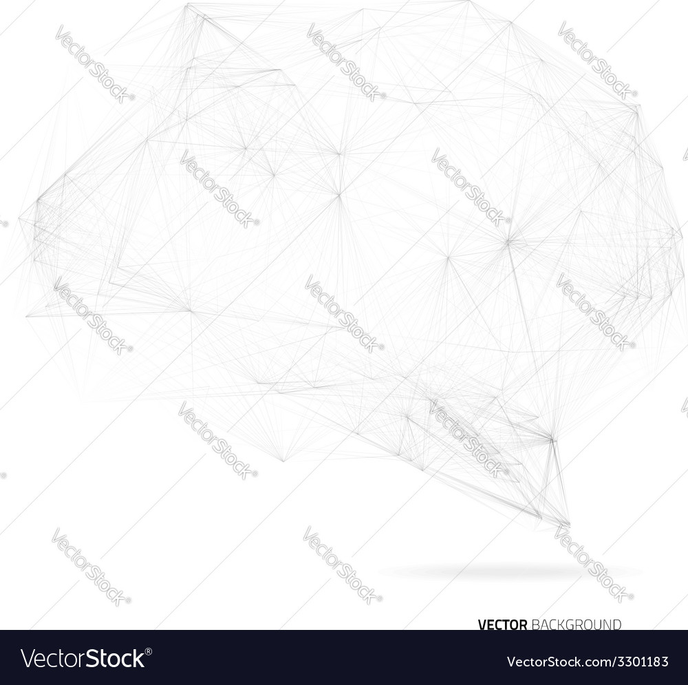 Brain of black lines vector | Price: 1 Credit (USD $1)