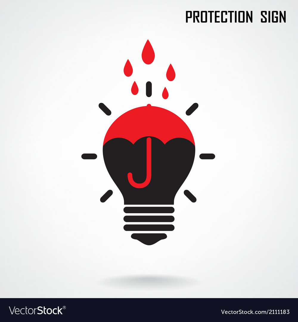 Creative lamp and protection concept background vector | Price: 1 Credit (USD $1)