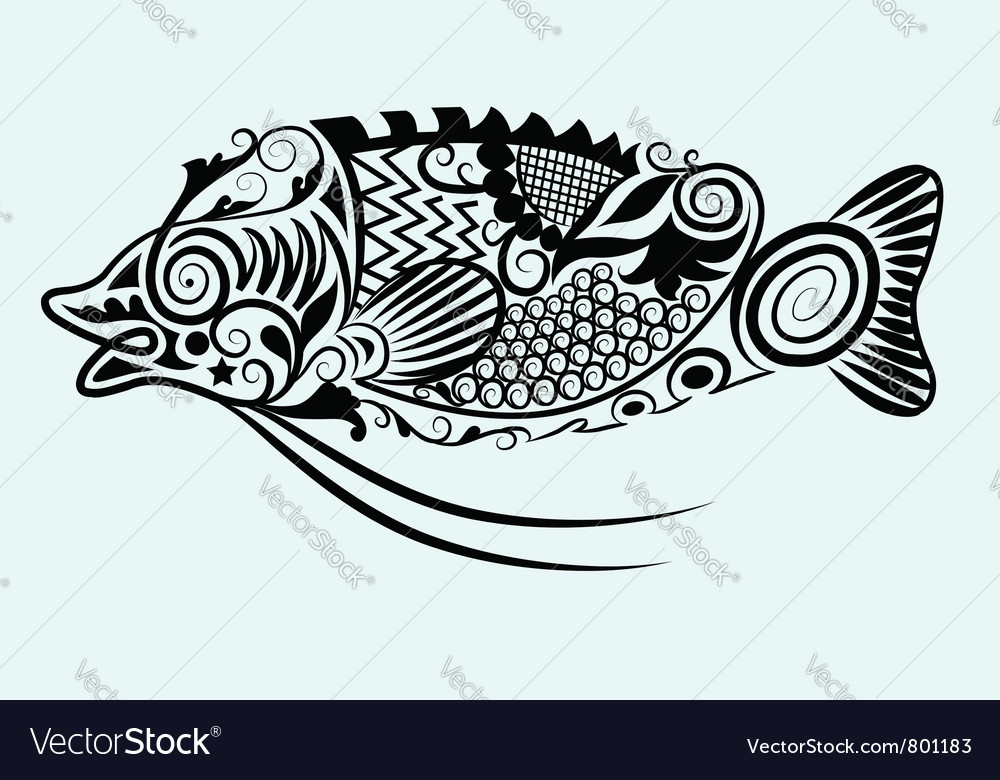 Decorative fish vector | Price: 1 Credit (USD $1)