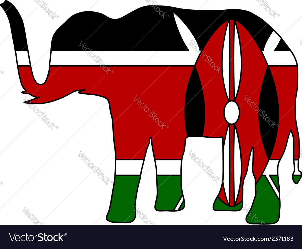 Elephant kenya vector | Price: 1 Credit (USD $1)