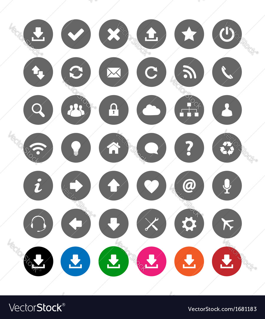 Flat web icons vector | Price: 1 Credit (USD $1)