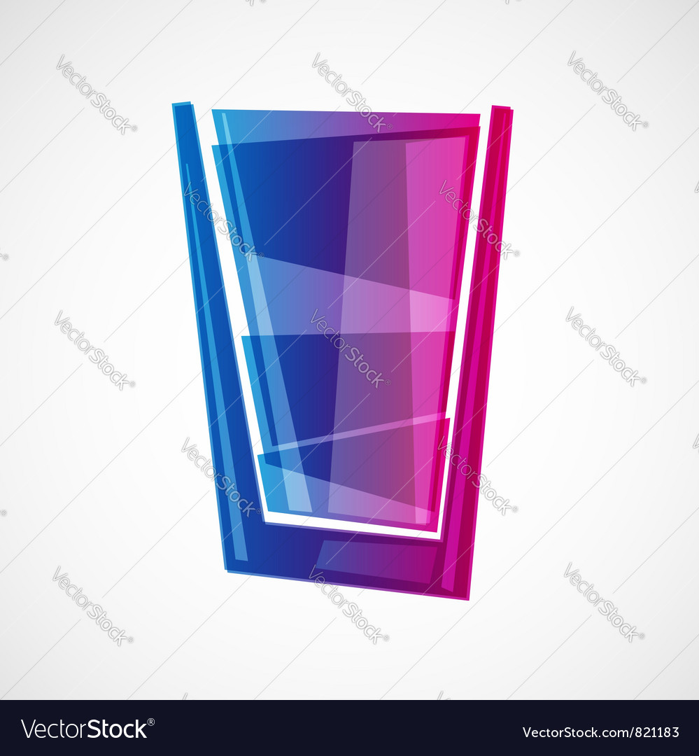 Glass with drink vector | Price: 1 Credit (USD $1)