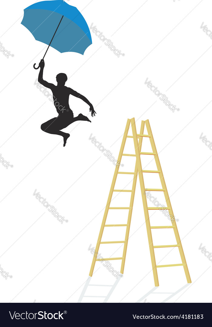 Jump from the ladder vector | Price: 1 Credit (USD $1)