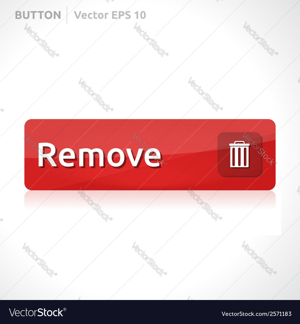 Remove button template vector | Price: 1 Credit (USD $1)