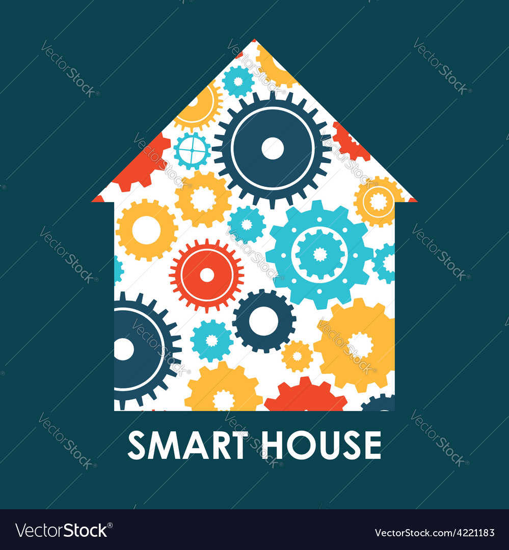 Smart house vector | Price: 1 Credit (USD $1)