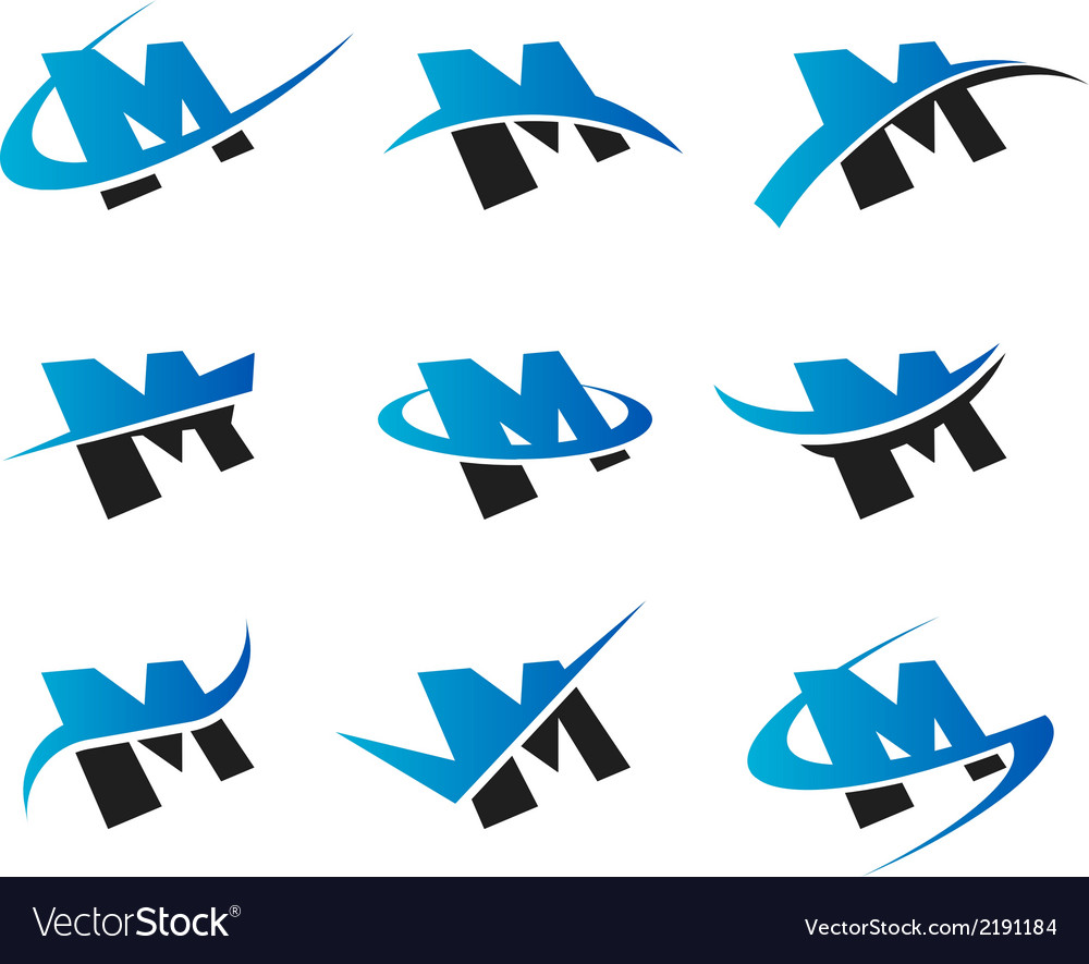 Alphabet m logo icons vector | Price: 1 Credit (USD $1)