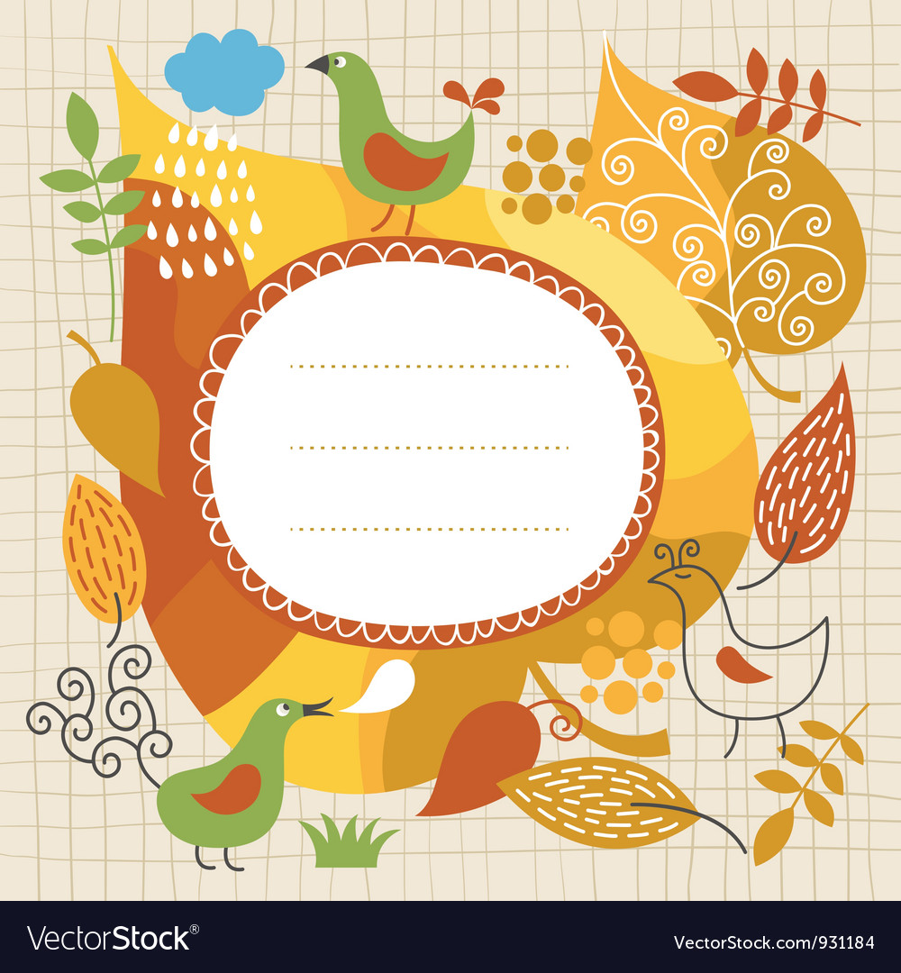 Autumnal theme vector | Price: 1 Credit (USD $1)