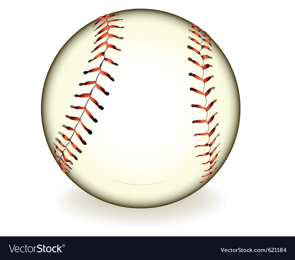 Ball baseball vector | Price: 1 Credit (USD $1)