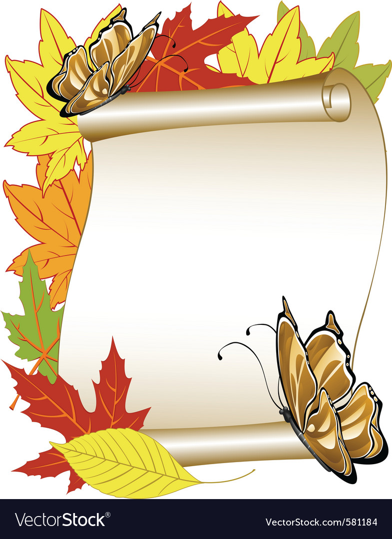 Butterfly autumn vector | Price: 1 Credit (USD $1)