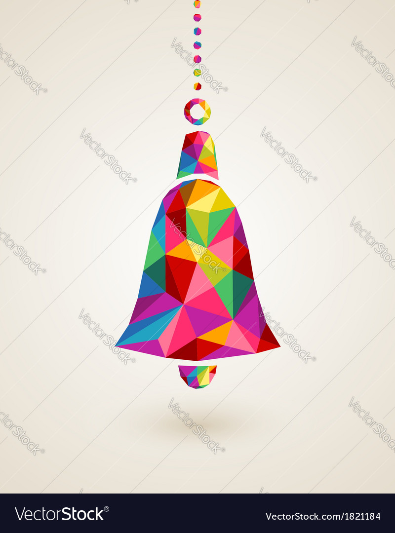 Christmas colorful hanging bell bauble vector | Price: 1 Credit (USD $1)