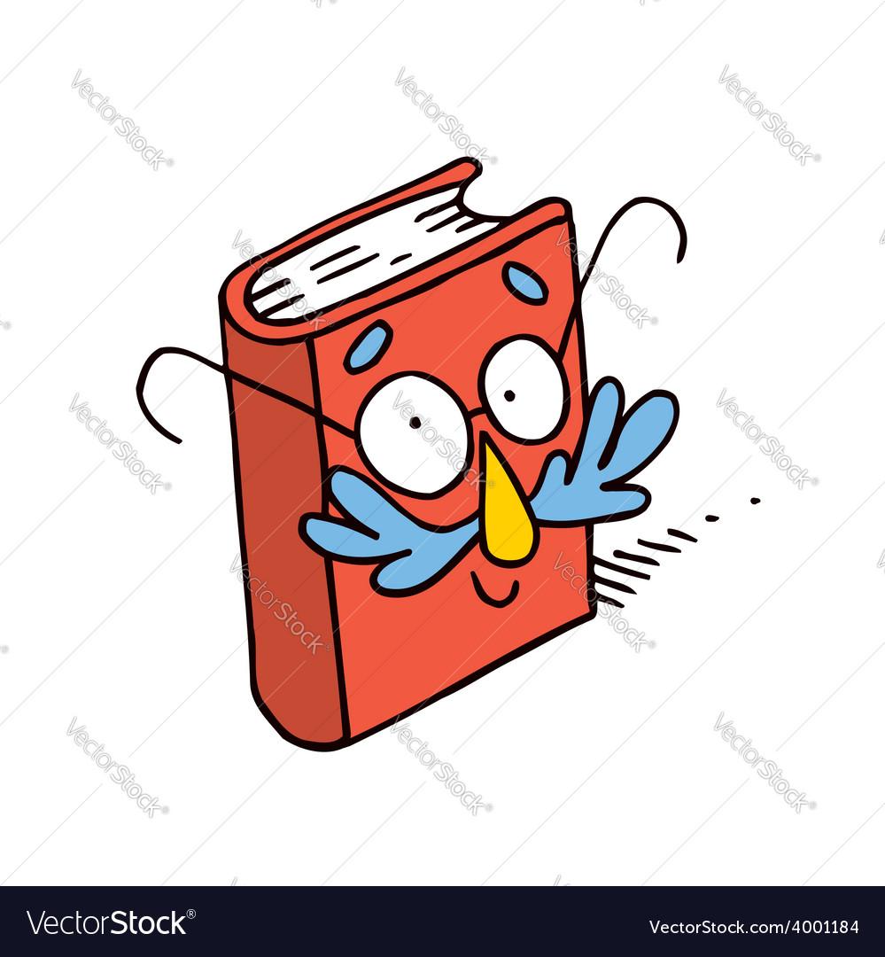 Cute cartoon book character mascot vector | Price: 1 Credit (USD $1)