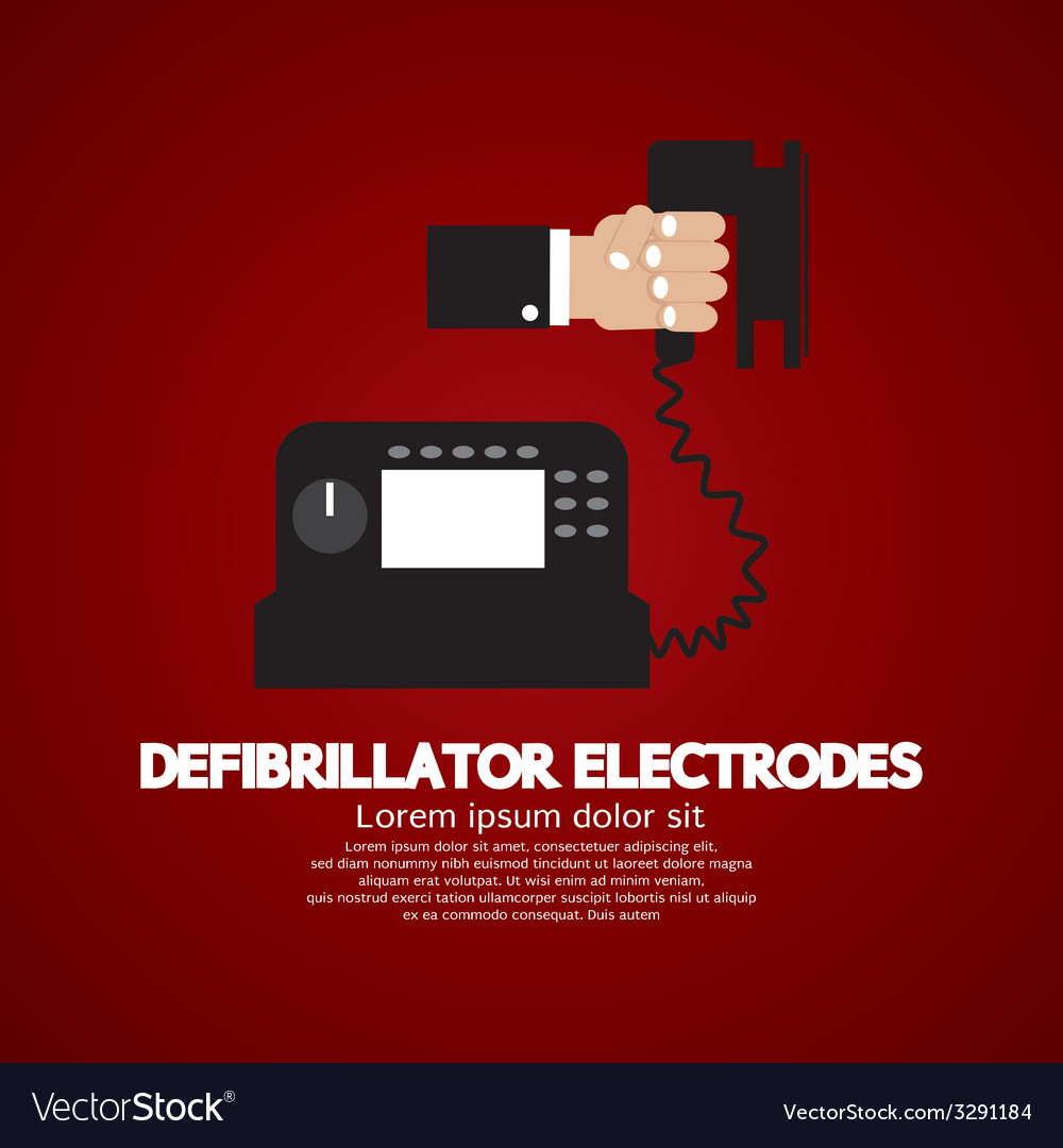 Defibrillator electrodes medical equipment vector | Price: 1 Credit (USD $1)
